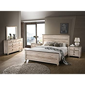 official photos 88a9f 5c4ce Amazon.com: Roundhill Furniture Laveno 012 White Wood ...