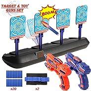 Tuptoel Boys Toys, Kids Indoor Toy Guns Set Home LED Auto Reset Electronic Shooting Target Kids Game Set Multi