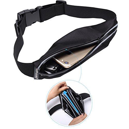 WEPLUS Adjustable Running Belt Gym Reflective Waist Pack Bag