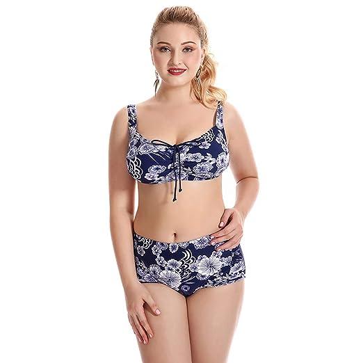 HGDR Mujeres de Talla Grande para Mujer Traje de baño Bikini ...