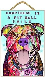 Pitbull–Señal de felicidad es un Pitbull sonrisa 7x 10,5