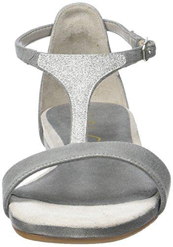 Unisa Apice_mts, Sandalias con Cuña para Mujer Gris (Steel)
