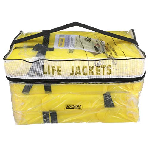 Seachoice 86010 Type II Personal Flotation Device Yellow Universal 4-Pack