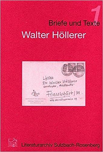 Walter Höllerer Zu Seinen Gedichten Und Seiner Lyrik