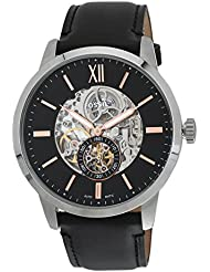 Fossil Townsman Skeleton Dial Automatic Mens Leather Watch ME3153