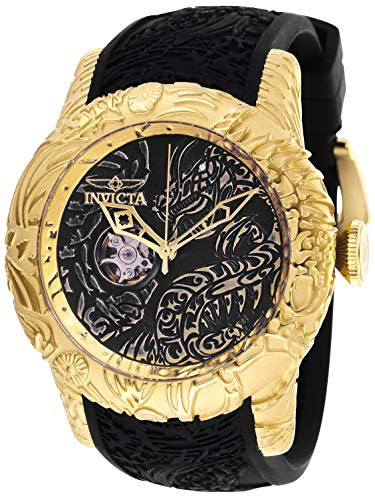 Invicta Men's S1 Rally Stainless Steel Automatic-self-Wind Watch with Silicone Strap, Black, 26 (Model: 26433)