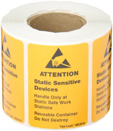 Static Warning Labels - Tape Logic DL9141 Anti Static Label, Legend