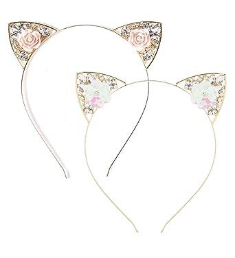 Amazon.com: VK accesorios cristales diadema de orejas de ...