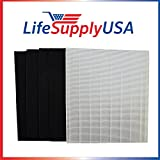 10 Pack Replacement HEPA Filter set for Winix Size 25 113250 113200 P450 by LifeSupplyUSA