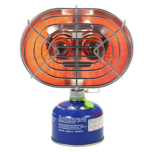 Lixada Double Head Outdoor Heater Portable Infrared Ray Camping Heating Stove Warmer Heating Gas Stove