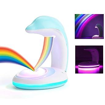 Winnes LED Dolphin Rainbow Projection Light Mini Creativo con ...
