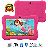 "Contixo Kids Tablet K3 | 7"" Display Android 6.0 Bluetooth WiFi Camera Parental Control for Children Infant Toddlers w/Free Tablet Case (Pink)"