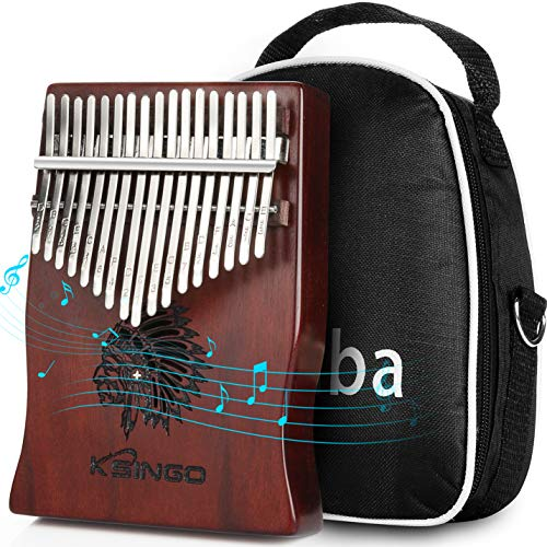 Kalimba 17 Keys Thumb Piano, Premium Rosewood Body Ore Metal Tines Finger Piano Mbira 17 Tone Musical instrument, Unique Gift Birthday Gift Idea for Kids Adult Beginners (Full Size)