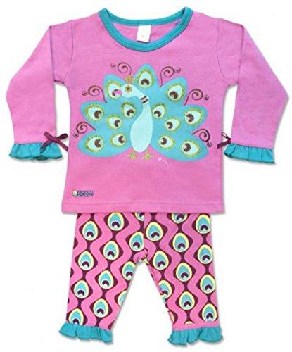Sozo Baby Girls' Peacock Playwear, Blue/Purple, 12 Months (Peacock Baby)