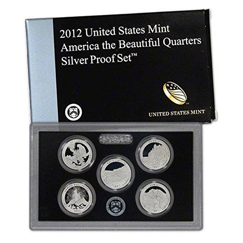 2018 S National Park Quarters Proof Set Clad No Box or COA Pristine Deep Cameo
