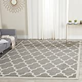 Safavieh Amherst Collection AMT420R Dark Grey and Beige Indoor/Outdoor Square Area Rug (5′ Square) For Sale