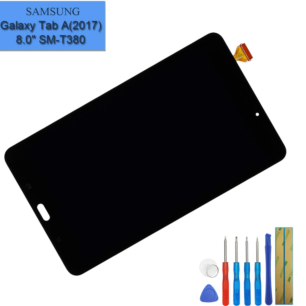 LCD Touch Screen Display Assembly Digitizer Compatible with Samsung Galaxy Tab A 8.0 2017 WiFi Version SM-T380 (NOT for LTE SM-T385)+ Tools