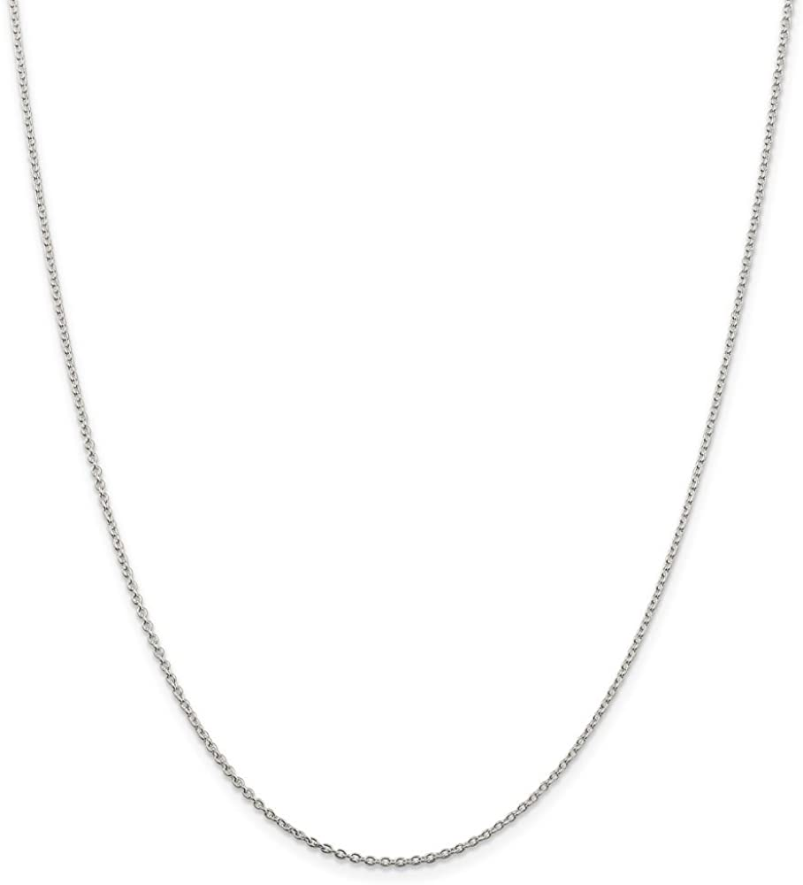 Solid 925 Sterling Silver 1.5mm Cable Chain Necklace