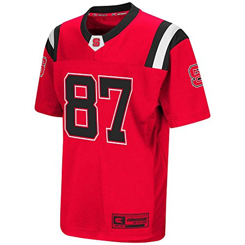 (Colosseum Youth NC State Wolfpack Football Jersey - S )