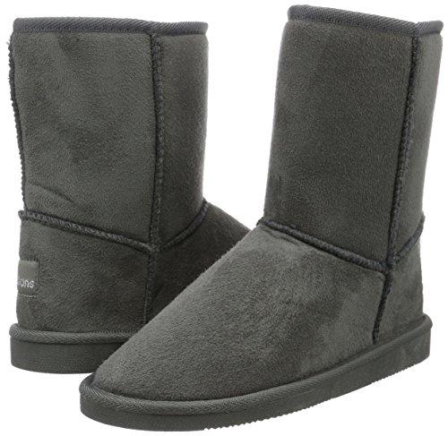 Chaude Dk Avec Femme Grau 250 Mi Canadians hauteur Bottes Boots Grey Doublure Gris YwnIPq