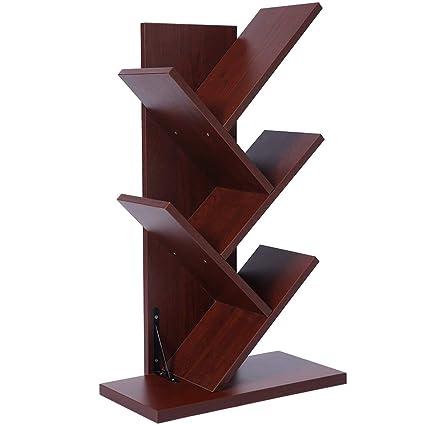 cds furniture. SUPERJARE 5-Shelf Tree Bookshelf   Thickened Compact Book Rack Bookcase  Display Storage Furniture Cds Furniture