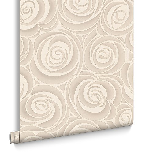 Graham & Brown 31-579 Hermitage Bella Wallpaper, Cream/Brown