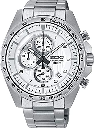 Seiko Reloj Cronógrafo para Hombre de Cuarzo con Correa en Acero Inoxidable SSB317P1: Seiko: Amazon.es: Relojes