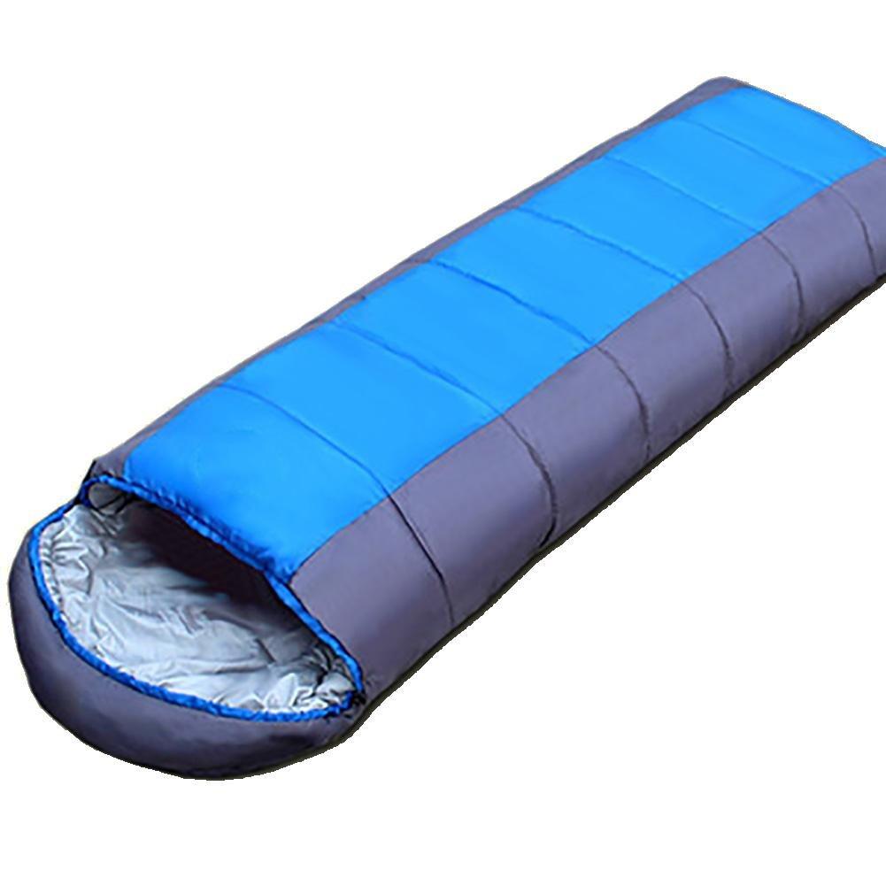 MIAO Sleeping Bag – アウトドアProfessionalキャンプ大人用コットンSleepingバッグ( 1800g ) Can Be Washed B0771P8K6G  ブルー