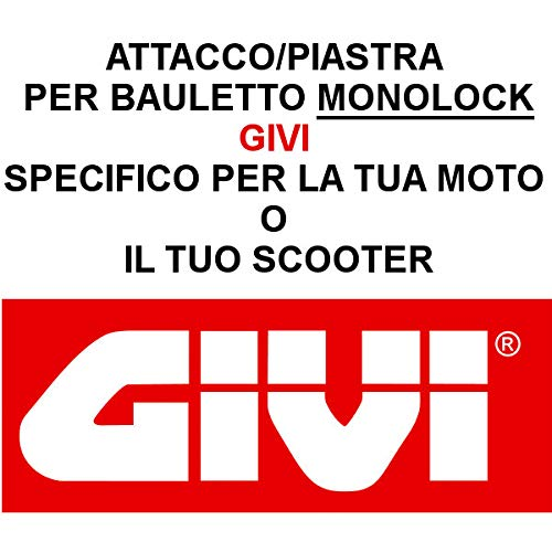 Acoplamiento Placa ba/úl espec/ífico SR5130 BMW C 400 x 2019 Monolock Givi