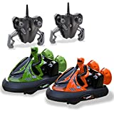 Rc Bumper Cars | Remote Control Cars - Set of 2 with Rechargeable Batteries and Wall Charger | 2.4Ghz Multiplayer Technology | Easy and Fun To Play