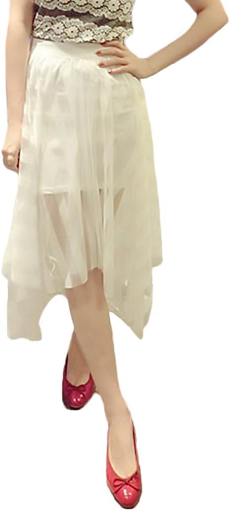 Mujer Faldas Elegantes Clásico Especial Transparente Encaje De ...