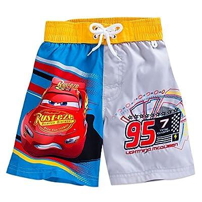 Disney Lightning McQueen Swim Trunks for Boys Red