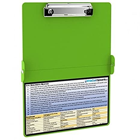 0a8a85b38fd2 Amazon.com   WhiteCoat Clipboard - LIME GREEN - Occupational Therapy Edition    Office Products