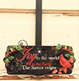 AG Designs Christmas Decor - Decorative Wreath Door Hanger - Joy to World 419/13