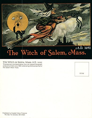 HALLOWEEN BRAND NEW UNUSED EMBOSSED POSTCARD - WITCH OF SALEM, -