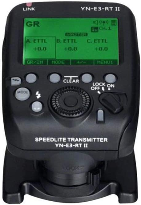 YONGNUO YN-E3-RT II On-Camera Flash Speedlite Transmitter Flash Trigger Compatible for ST-E3-RT//600EX-RT//YN-E3-RT//YN968EX-RT//YN600EX-RTII//YN686EX-RT//YNE3-RX
