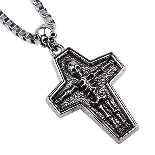 l Bone Body Inlaid in the Cross Pattern Pendant Exotic Style 22.44