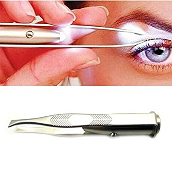 Amazon.com : Make Up Led Light Eyelash Removal Tweezer Face ...