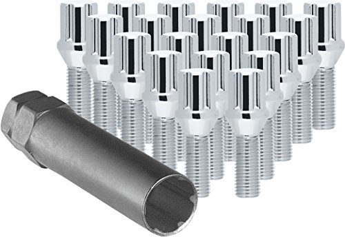 Tuner Lug Bolts - CECO Chrome Spline Drive Tuner Bolt Installation Kit (20 Lug Bolts & 1 Key) 14x1.50 R.H. Thread Pitch 1.1