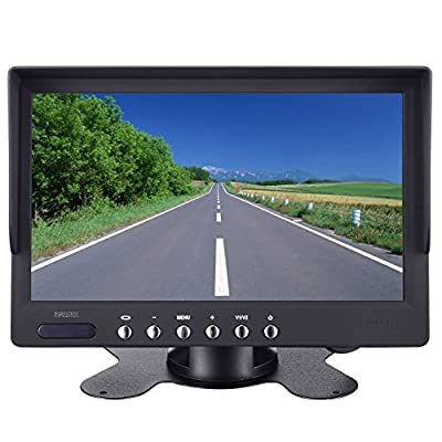Heavy Duty Vehicle Truck Bus Backup Camera System,Waterproof Night Vision Rear View Camera with 7 inch Monitor+66ft 4 PIN Camera Cable for Bus Truck Van Trailer RV Campers Motor Home(12V 24V): Car Electronics