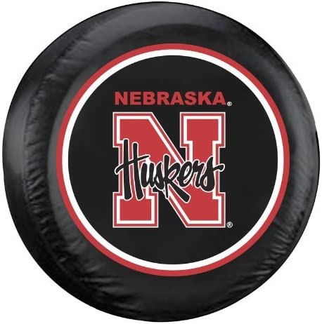 Fremont Die NCAA Nebraska Cornhuskers Tire Cover Large Black