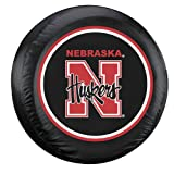 Fremont Die NCAA Nebraska Cornhuskers Tire Cover, Large, Black