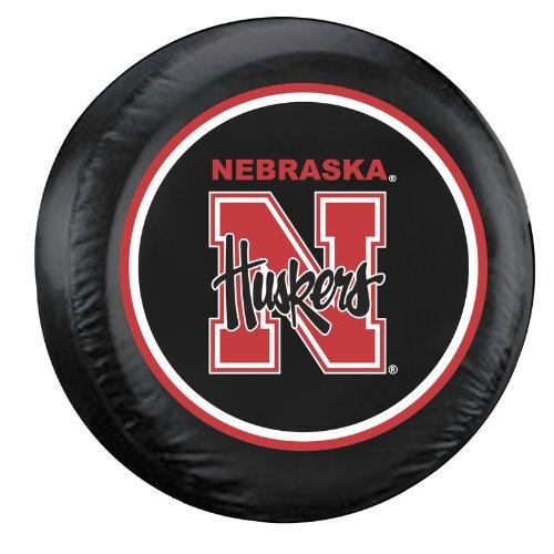 raska Cornhuskers Tire Cover, Large, Black ()
