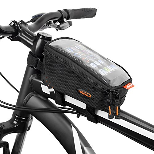 Ibera Bicycle Top Tube Phone Bag for 5'' - 6'' Screen Size, Bike Frame Strap Attachment Mount by Ibera (Image #8)
