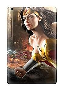 Tpu Case For Ipad Mini/mini 2 With Wonder Woman In Ruined City