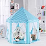 BEE Children Game Play Toys Tent, Indoor Large Playhouse, Folding Fairy Princess Castle Tent with Fixable Roof, Perfect Gift / Presents for Kids. (Blue)