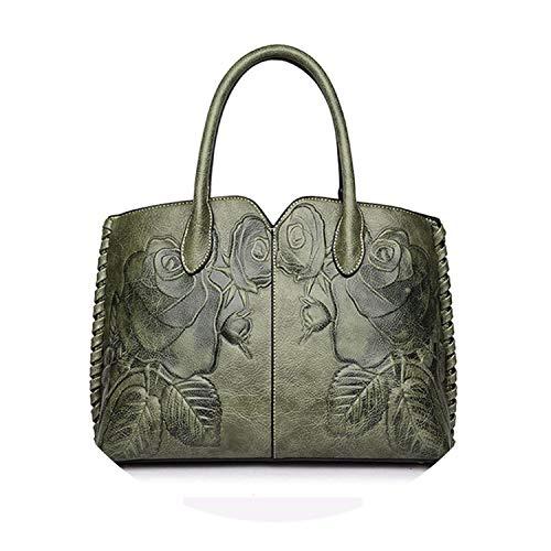 pursuit-of-self Bolsa Feminina 2018 Ladies Genuine Leather Bag,Green