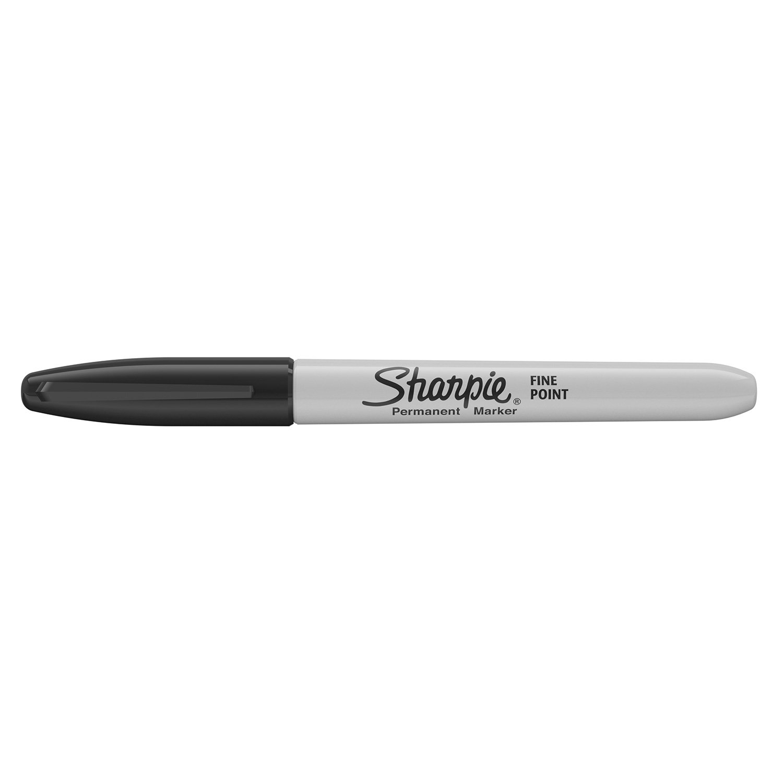 Sharpie Permanent Markers Fine Tip Black Box of 12 Amazon