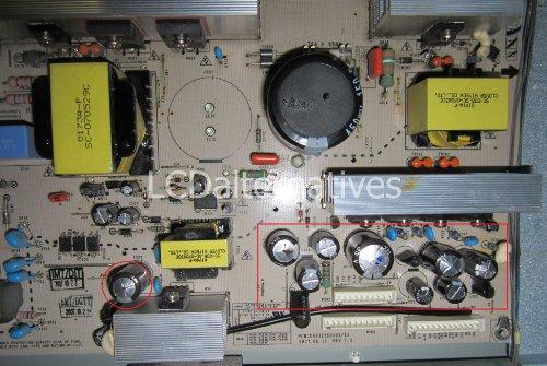 Repair Kit, LG 37LC7D UK, LCD Monitor, Capacitors, Not th...