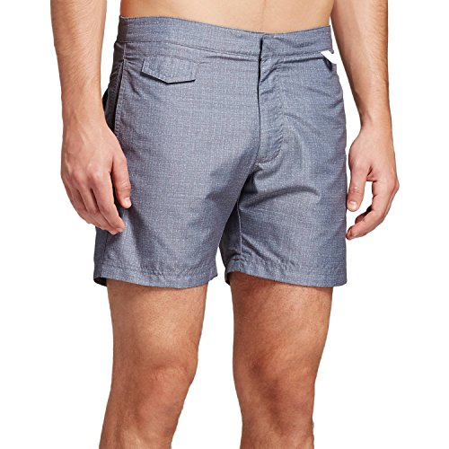 Ibiza Ocean Club Mens Swim Trunks (38, Textured Black)
